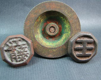 3 vintage Japanese spinning tops  - Japan -  second half of the 20th century. FREE SHIPPING