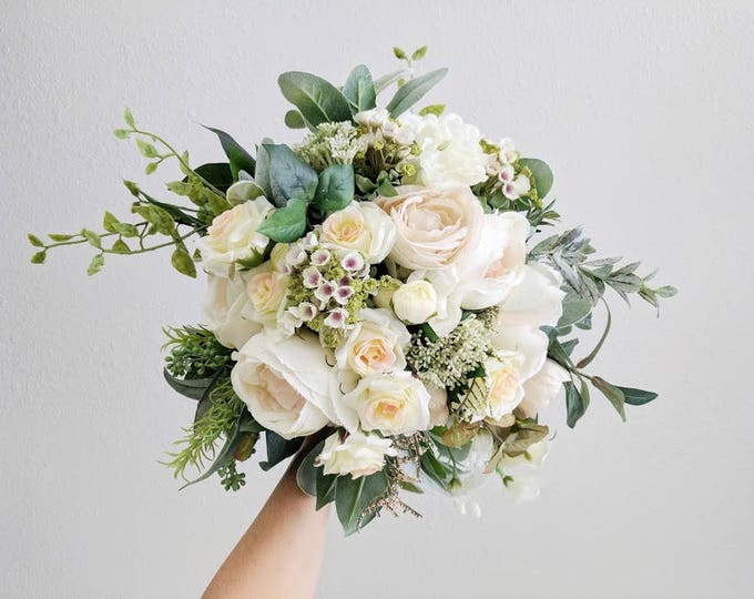 Featured listing image: Wedding Bouquet, Silk Flower Bouquet, Wedding Flowers, Bridesmaid Bouquets, Bouquet, Flower Bouquet, Silk Flowers, Bridal Bouquet