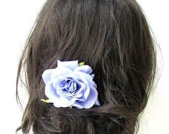 Lilac Light Purple Rose Flower Hair Comb Bridesmaid Floral Rockabilly Vtg 1934