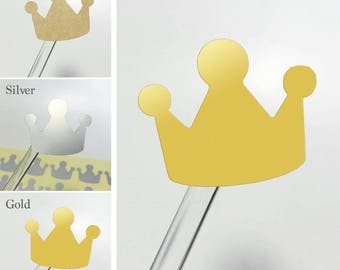 Shape Stickers Labels Seals [Pack of 40] #Crown
