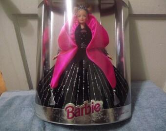 Vintage Happy Holiday Barbie/ Black Dress