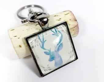 Gift-for-Her, Woodland Animals, Key Chain, Deer Antlers, Gift for Women, Deer Antler, Housewarming Present, Housewarming Gift, Antler Gift