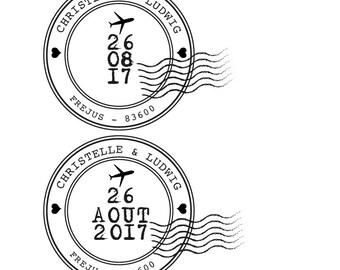 Custom stamp - travel theme