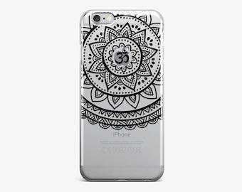 Mandala Phone Case iPhone 7 Case Lotus iPhone Cover iPhone SE Case iPhone 7 Plus Case iPhone 6 Plus Case Clear iPhone 6 Case iPhone 5S Cover