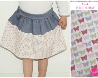 Summer skirt girl rock baby rock pastel butterflies Rosa Grau first birthday outfit