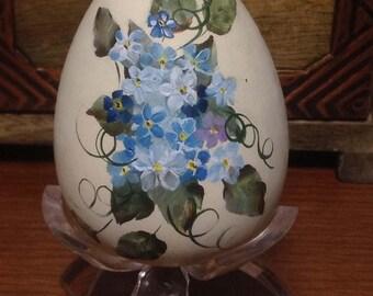 Vintage Hand Painted Easter Egg, Floral Painted Egg, Easter Egg,