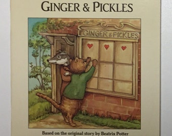 My Little Book About Ginger and Pickles Based On The Original Story By Beatrix Potter With All New Illustrations Vintage Paperback Book 1991