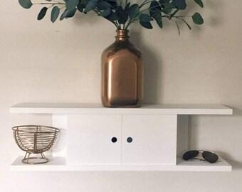 Wall Mounted Mail Organizer   Key Holder   Entry Way Storage   Sunglass Storage    Minimalist Decor   Beach House   White Home Decor