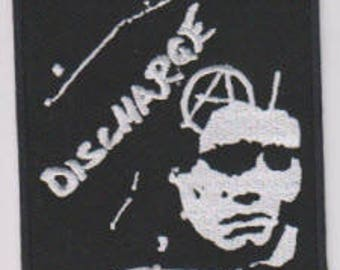 Discharge punk hardcore embroidered patch - face