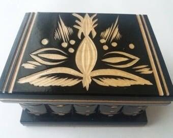 New black cute puzzle box handmade wooden secret magic puzzle jewelry ring holder box gift treasure challange family game