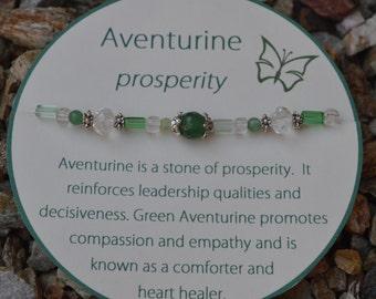 Aventurine bracelet for Prosperity! Comfort and heart healer!  Reiki Infused!