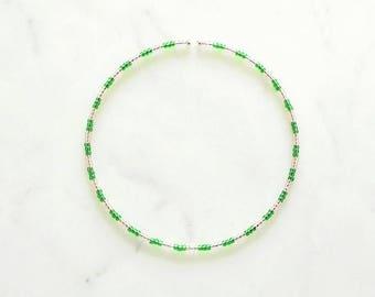 crystal collar multicolor