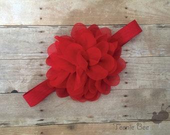 Red Valentines Day Headband - Baby Valentine's Day Headband - Valentines Day Baby Girl Headband - Newborn Pink Headband