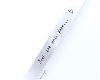 Hand Stamped Bookmark / Gift for book lovers / book themed gift / Hand Stamped Gift / Bookmark / Book mark / Mother's Day / special gift