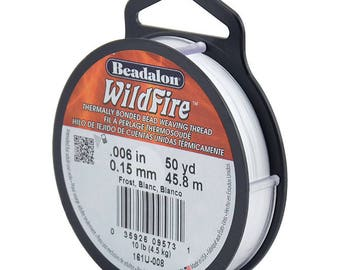 Beadalon Wildfire Beading Thread Frost .006 in (.15 mm), 50 yd (45 meters  )