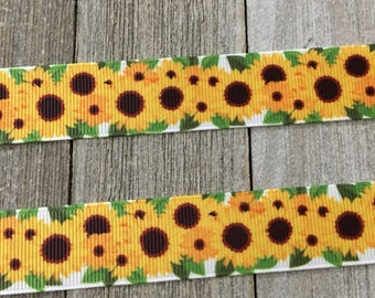 Sunflower Ribbon, Spring Ribbon, Summer Ribbon
