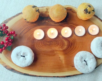 Rustic candleholder, Board pastry, Board cutting,.