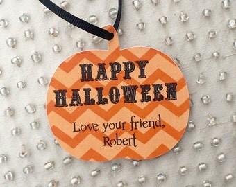Pumpkin shaped Favor tags
