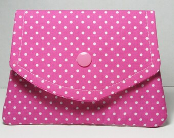 Fabric Womens Wallet, Womens Pink Fabric Small Wallet, Credit Card Holder, Gift Card Holder, Gift For Her