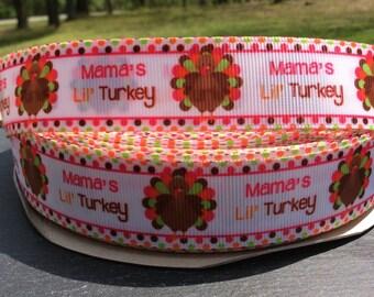 Thanksgiving Ribbon, Turkey Ribbon, Thanksgiving Holiday Ribbon, Thanksgiving Bows