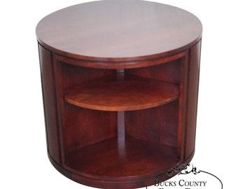 Revolving bookcase etsy for Revolving end table