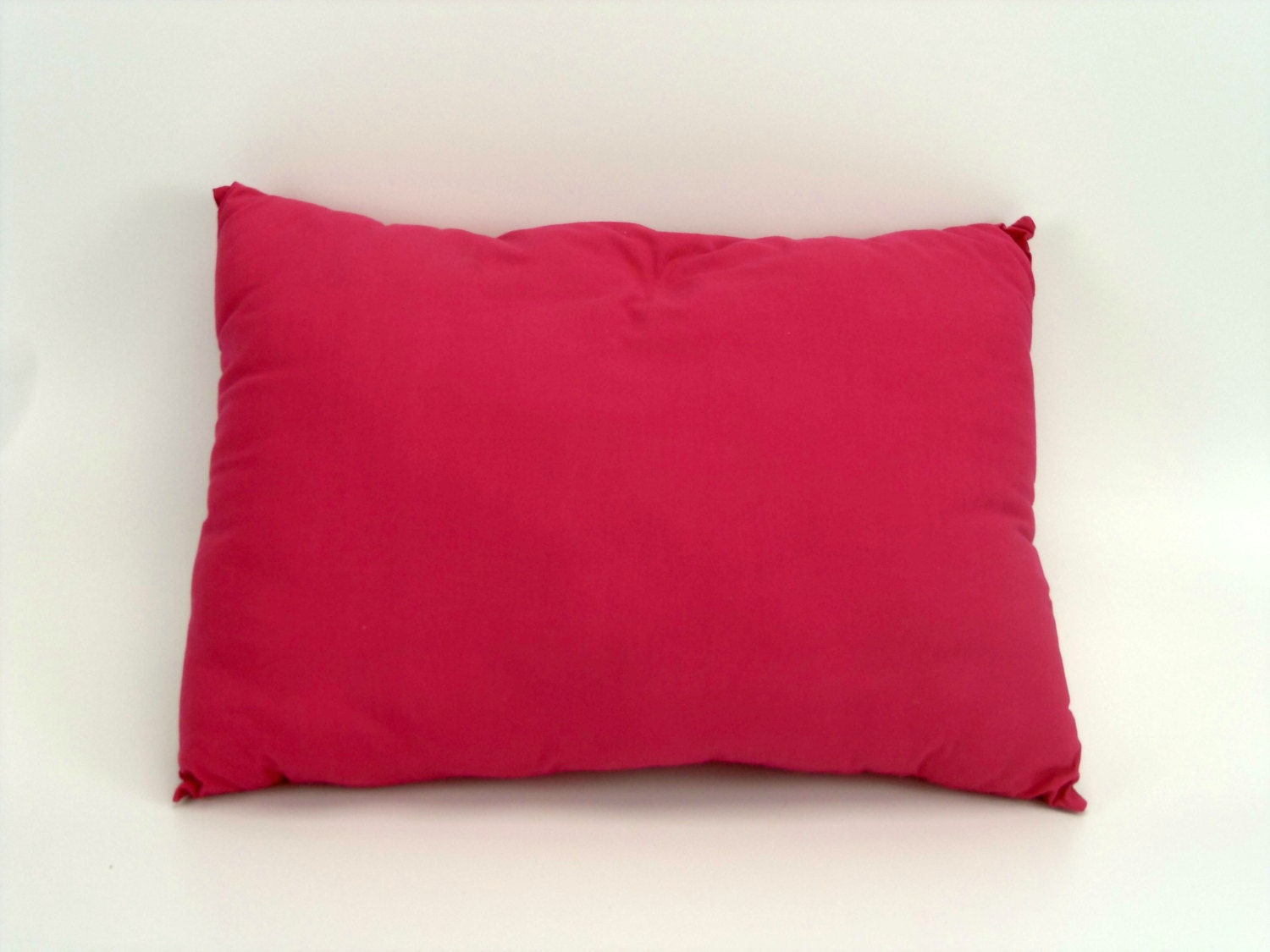 Decorative Throw Pillow Gift For Her Solid Pink Cotton