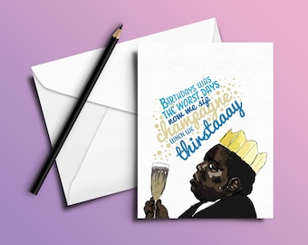 Notorious B.I.G. Birthday Card 'Juicy' (Hip Hop / Rap Cards)