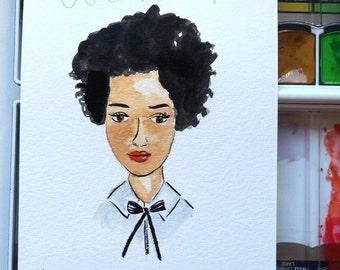 Custom Little portrait - Watercolour