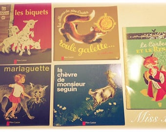 Lot of 5 books for children in french