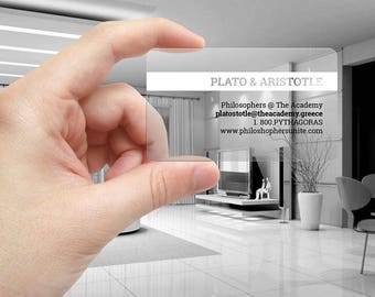 Business Cards(Clear Plastic Template)