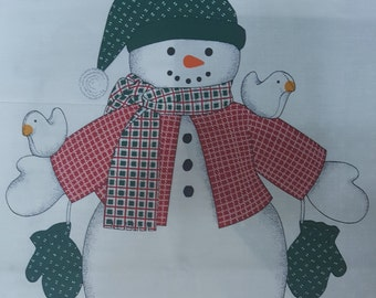 Country Snowman by Cranston Print Works Co. Panel
