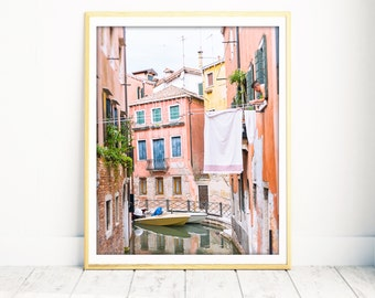 Venice Wall Decor, Europe Photography, Italy Photography, Venice, laundry room decor, wall art, extra large wall art, poster, wall decor