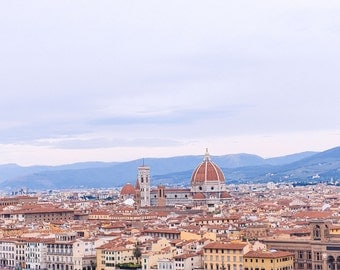Large Wall Artwork, Florence Print, Italy Poster, Extra Large Wall Art, Florence skyline, Italy Wall Art, Wall Decor, Italy Florence Art