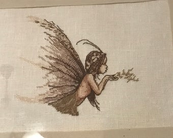 Fairy and OWL welcome cross stitch