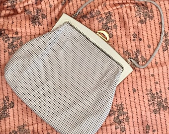 Vintage Cream/Gold Regal Mesh Tote Bag