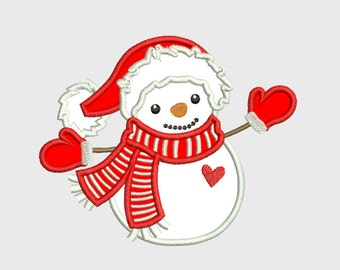 Snowman Christmas Embroidery Design for machine embroidery,  INSTANT DOWNLOAD hoop 4x4 5x7 6x10