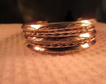 Retro Sterling Silver Cuff Bracelet