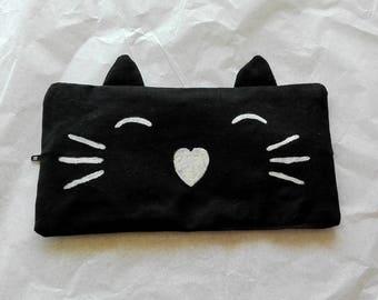Black Cat Pencil Case