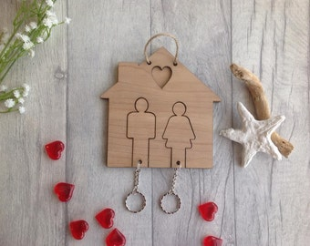 His & Hers key ring holder