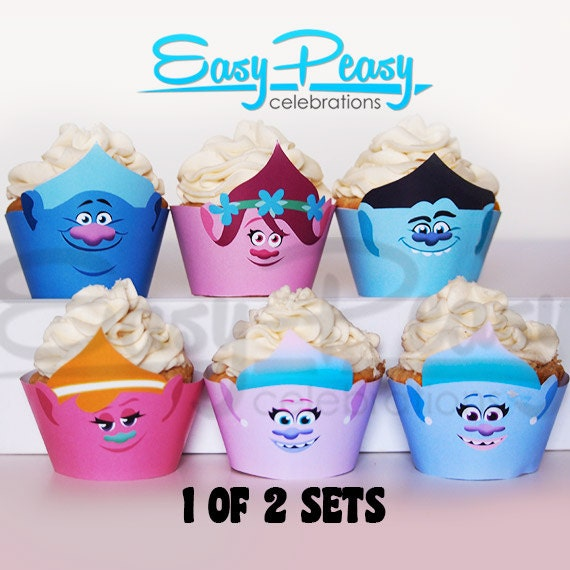 Dreamworks Trolls Cupcake Covers