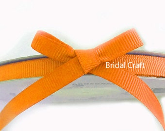"Orange 1/4"" Grosgrain Ribbon 25 yards"