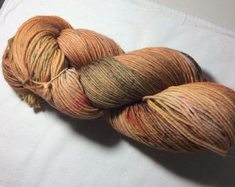 Hand dyed OOAK sock weight superwash merino/nylon yarn (autumn)