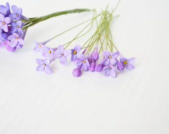 50 Lilac Sugar Flowers