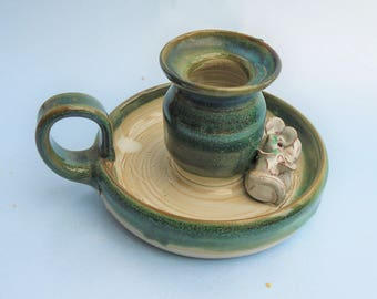 Ark Pottery Hand Made Candlestick holder