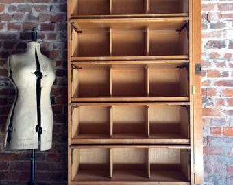 Beautiful Large Haberdashery Cabinet Cupboard Oak Vintage Mid Century 1954