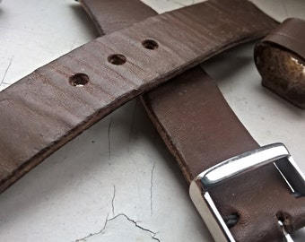 Beeswaxed handmade watch band, watch strap III. Classic buckle