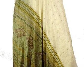 MAXI SKIRT long SKIRT, Indian yellow khaki ethnic skirt, hippie skirt, 40/56 ajt38