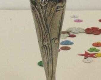 Tiny Pewter Art Nouveau Style Bud Vase