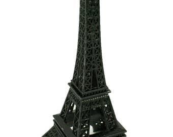 BLACK  Eiffel Tower Paris France Metal Stand Model For Table Decor CHOOSE SIZE