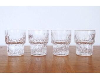 Set (4) iittala Finland Paadar Shot Glasses - Tapio Wirkkala Design